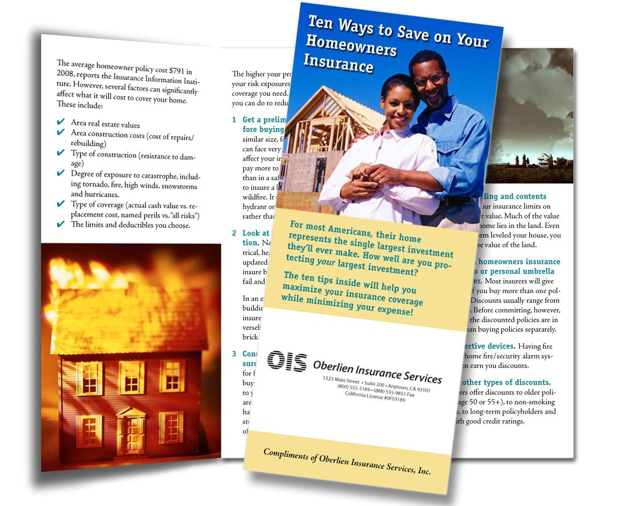 Customized Insurance Sales Brochures